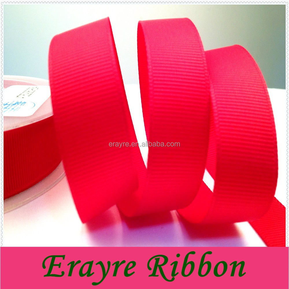 100% Polyester 20MM Wholesale Red Grosgrain Ribbon