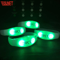 2020 Party Supplies Flashing Remote Controlled LED Wristband Led Display DMX 512 Audio Led Bracelet For Concert Event Party