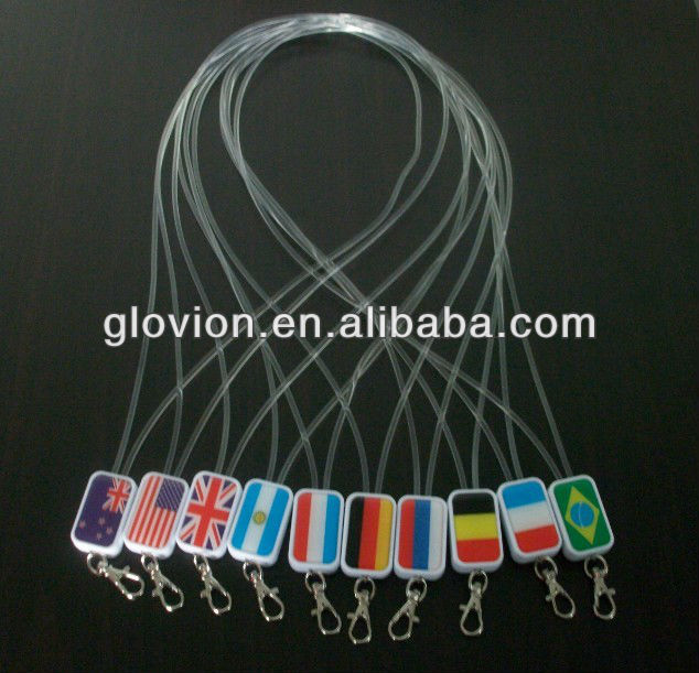 New Arrival 2014 world cup LED lighting sling,optical fiber sling,led flashing sling