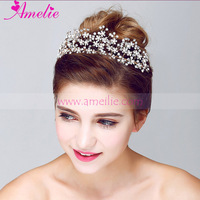 Quality Warranty Factory Sell 2016 New Babysbreath Floral Princess Crown For Girls