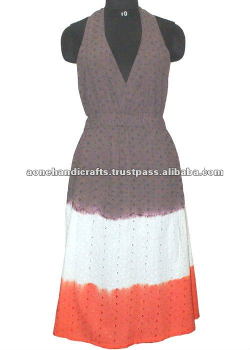 Ladies Casual Open Shoulder Dress, Ladies Dress, Cotton fabric designer ladies Dress