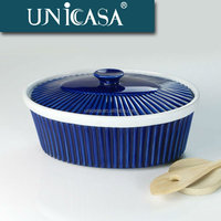 UNICASA Korean tableware royal blue commercial ceramic best soup pot