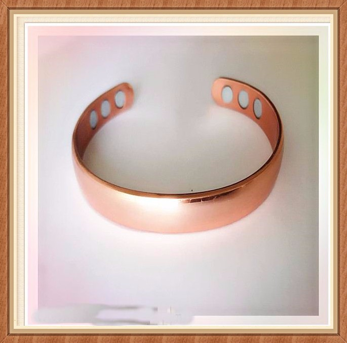 Wholesale Attractive Ladies Copper Magnetic Bracelet - Arthritis Aid with 6 POWERFUL MAGNETS