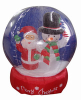 180cmH giant inflatable decorative snowglobe snowman and santa