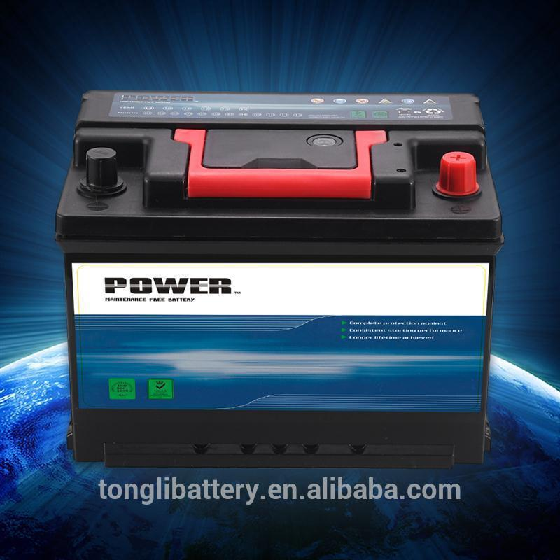batteries for electric boat motor din standard 12v 62ah car battery MF starting battery factory