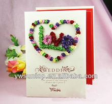 2016 heart designer with flower LOVE word guest books wedding souvenirs decorations wholesale