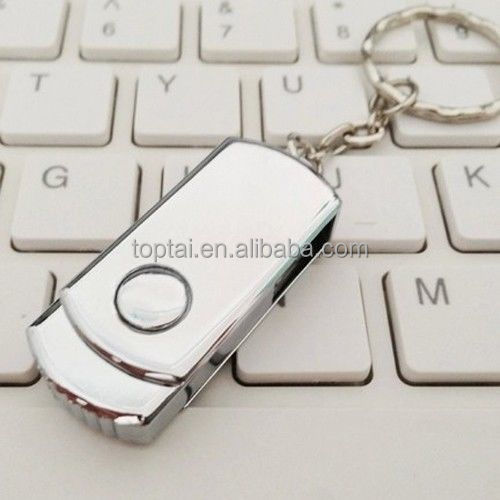 High quality Swivel Metal USB Flash Drive with key chain