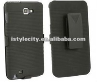NEW BLACK HARD CASE + BELT CLIP HOLSTER For SamSung Galaxy Note i9220
