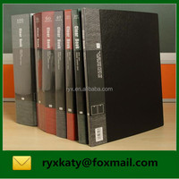 office pvc clear display presentation book with custom cover pocket