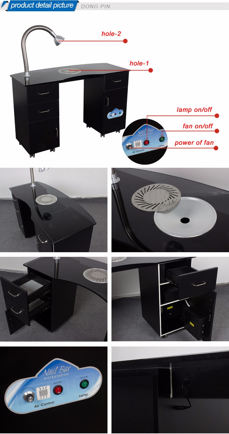 Simple Design Manicure Table With Ventilation Buy