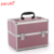 Yaeshii professional aluminum portable vanity trolley Cosmetic makeup storage kit case with private logo