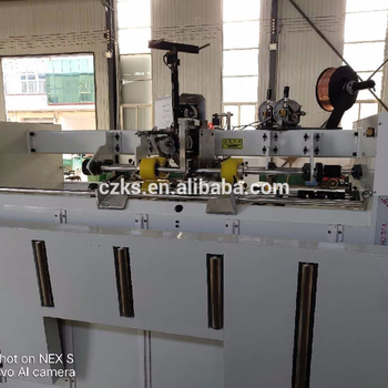 High speed single chip double servo semi auto stitching and nail box machine