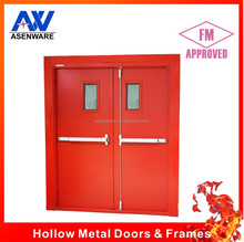 Fire emergency exit door with push bar