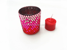 sweet glass candle holder for home decroration
