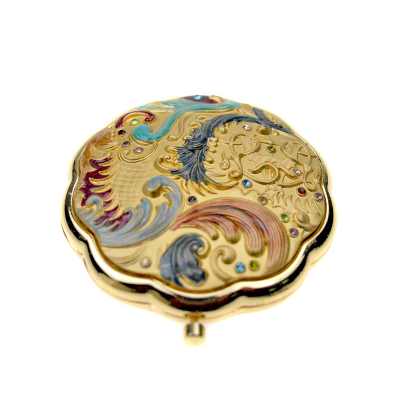 Customized  shell bling large plastic  magnification  makeup mirror