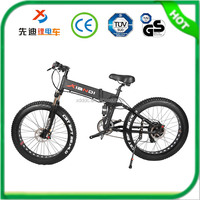"Aluminum Alloy Frame 26"" 4.0 Folding Snow E-bike And Hidden Battery Folding Beach Electric Bicycle With Pedals For Sale"