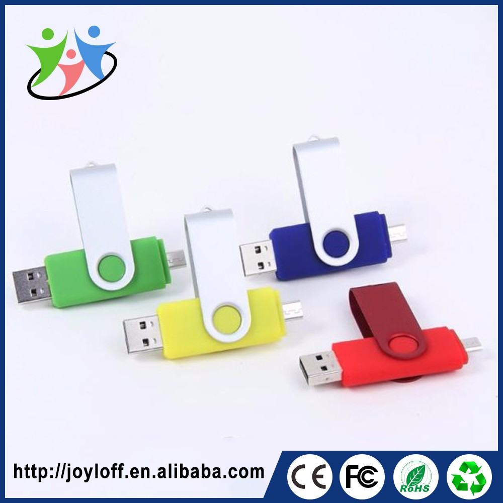 Professional Manufacturer Dual Double Plug Interface Pc 16gb Otg Usb Flash Drive