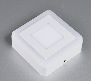 CE approval decorated ceiling lamp recessed round square double color 18w + 6W ultra thin led panel light