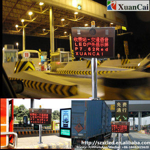Communication protocol Traffic Voice broadcast LED display for toll station