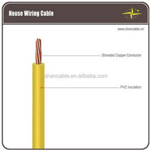 solid copper conductor flexible electrical wire PVC insulated PVC sheath cable
