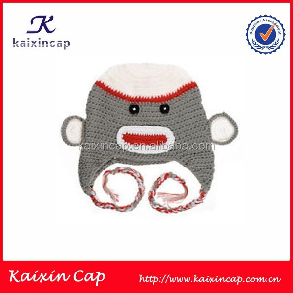 Custom Beanie Hat For Kids Monkey Cap Crochet Manual