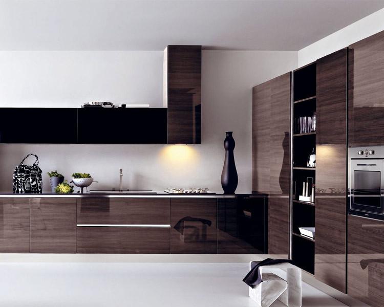 Modern melamine kitchen cabinet modular integrated kitchen for Melamine kitchen designs