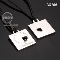 Customizable Metal Promotional Necklace