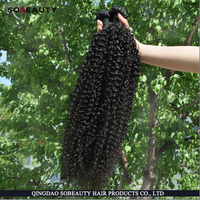 2016 New Factory Price natural color tight curl weaving human hair