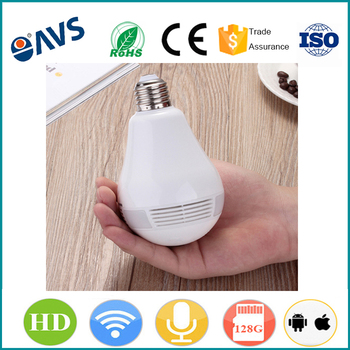 360 Degree Home Security Fisheye Bulb Camera Wifi IP Panoramic Camera