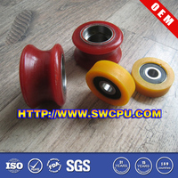 Small hard plastic wheels for carts