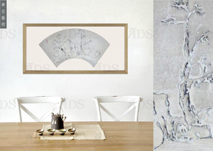Framed Handmade Decorative Triptych Modern Oil Painting for Home Decoration