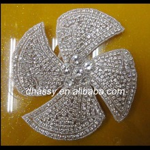 heavy small beads windmill design bags Rhinestone applique /Wholesale crystal rhinestone embellishment /strass diamond patch
