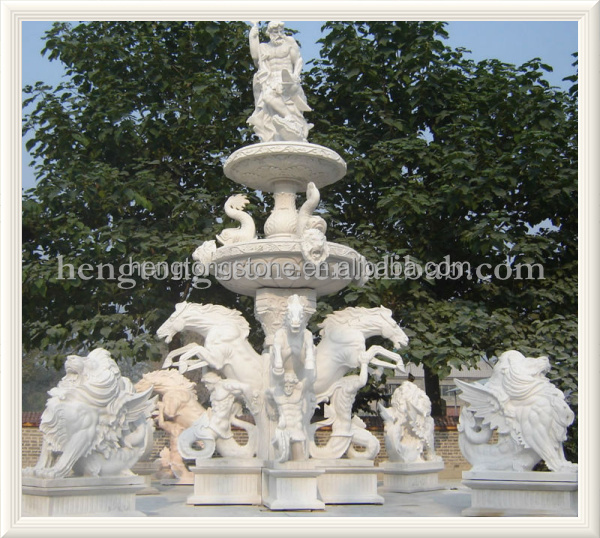 Marble Large Outdoor Water Fountain for Sale