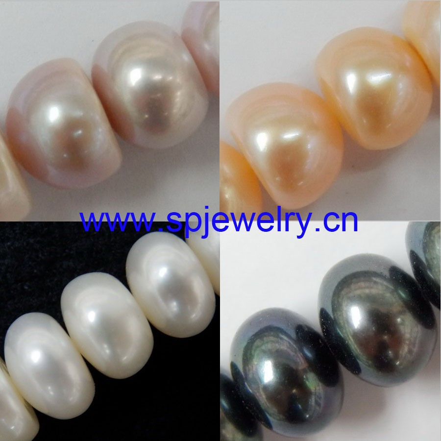 large hole pearls, 2mm hole, 4-11mm, 16-inch per strand
