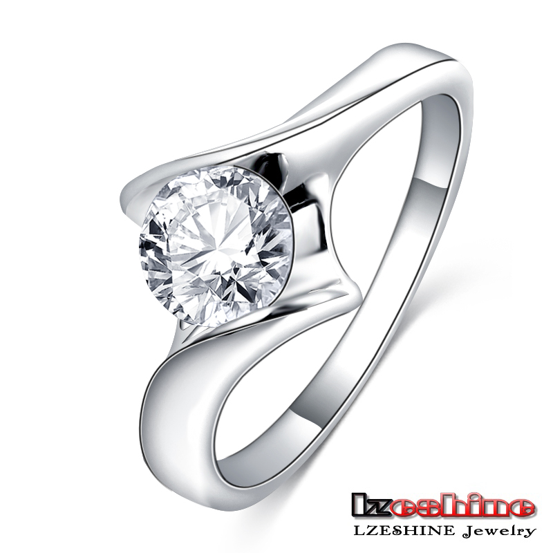 Platinum Plated Engagement Couple Love Ring CRI0393-B