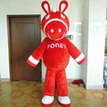 Hola red donkey mascot costumes/mascotte for adult