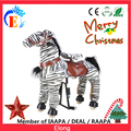 lovely walking zebra with soft fur/Kids horse cheap price