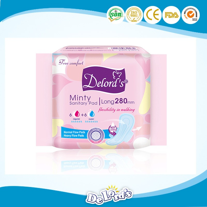 cheap/ free sample lady sanitary pad