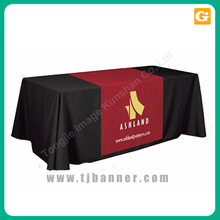 Polyester display promotion table cloth fabric table cover
