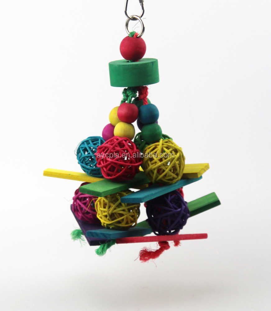 Vine Balls Bunch Wood Parrot Toy