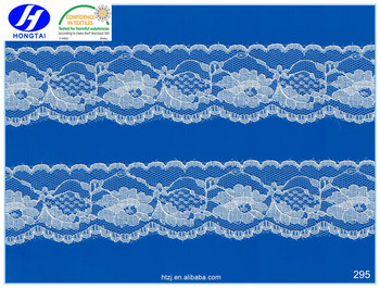 nice quality free sample factory directly supply nylon spandex 3d lace trim fabric