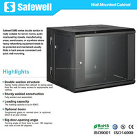 Safewell 12U 600mm Wall Mount Double Section Hinged Swing Out Network Cabinet