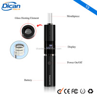 New Ceramic Chamber Quartz Coil Heating Glass Dry Herb Vaporizer Digital Temperature Control Herbal Vaporizer Pen T3