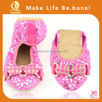 Shining Sexy Girl Portable Fold up Purse Flat Shoes For Dance