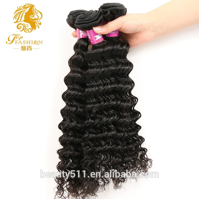 26 28 30 Inch 10A Grade Brazilian Virgin Human Hair Deep Wave Weave Bundles Mink Brazilian Hair HS02