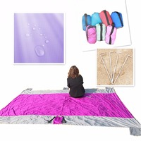 Wholesale New style custom LOGO sand proof parachute beach picnic blanket Huge fast drying foldable sand free beach mat