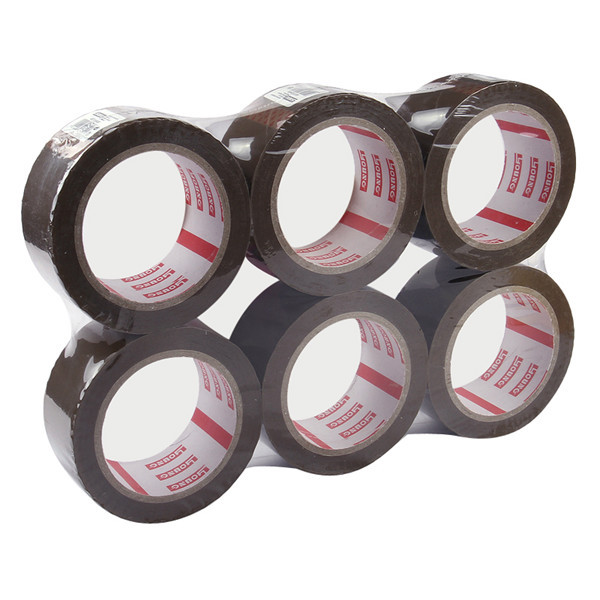 OEM printed carton sealing bopp tape single sided crystal clear packing tape