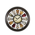 Hot sell decorative high quality good design metal wall clock