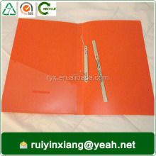 custom different color a4 size plastic file folder with clip fastener YRX-CF885