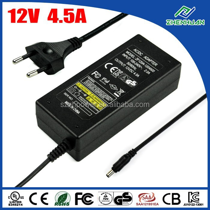 Shenzhen power adapter 54W 12V 4.5A adaptor for slit lamp